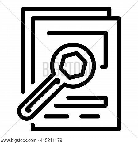 Technical Writing Icon. Outline Technical Writing Vector Icon For Web Design Isolated On White Backg