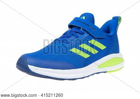 Varna , Bulgaria - March 2, 2021 : Adidas  Forta Run Sport Shoe, Isolated. Product Shot. Adidas Is A
