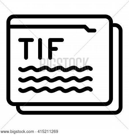 Online Technical Info Icon. Outline Online Technical Info Vector Icon For Web Design Isolated On Whi