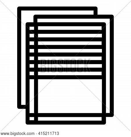 Database Sheet Icon. Outline Database Sheet Vector Icon For Web Design Isolated On White Background