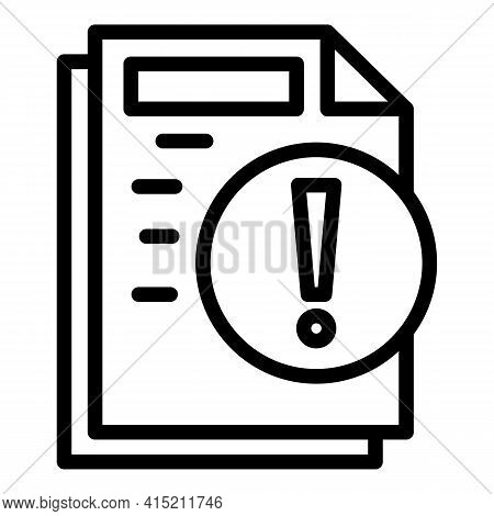 Warning Instructions Icon. Outline Warning Instructions Vector Icon For Web Design Isolated On White