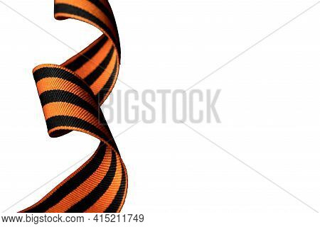 St. George's Ribbon Isolated On White Background. May 9 Victory Day In The Great Patriotic War Of 19