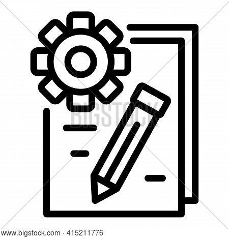 Technical Configuration Icon. Outline Technical Configuration Vector Icon For Web Design Isolated On