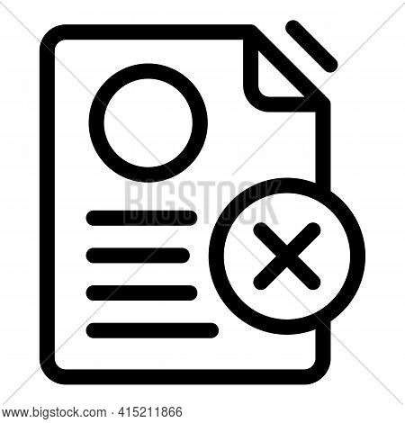 Delete Sheet Icon. Outline Delete Sheet Vector Icon For Web Design Isolated On White Background