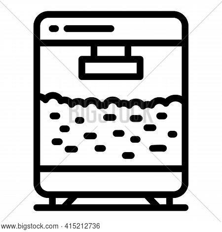 Popcorn Maker Machine Icon. Outline Popcorn Maker Machine Vector Icon For Web Design Isolated On Whi