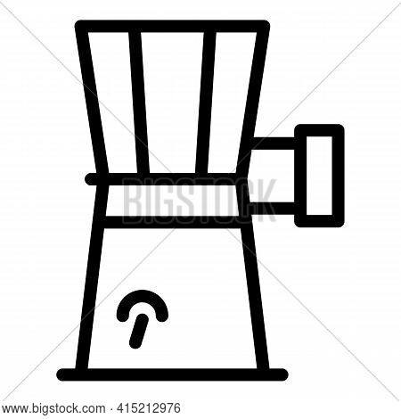 Cutter Machine Food Icon. Outline Cutter Machine Food Vector Icon For Web Design Isolated On White B