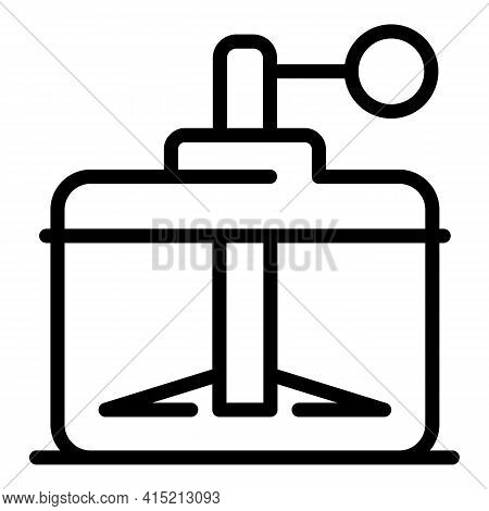 Kitchen Cutter Icon. Outline Kitchen Cutter Vector Icon For Web Design Isolated On White Background
