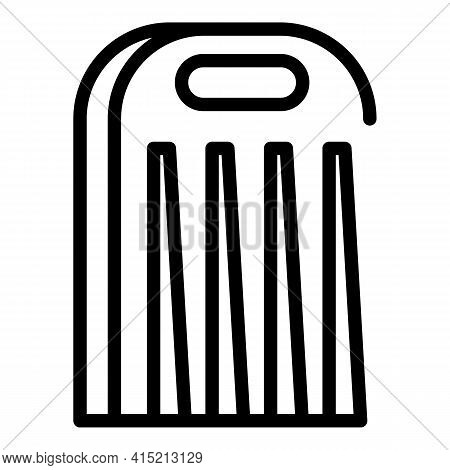 Salad Cutter Icon. Outline Salad Cutter Vector Icon For Web Design Isolated On White Background