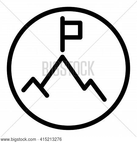 Target Peak Icon. Outline Target Peak Vector Icon For Web Design Isolated On White Background