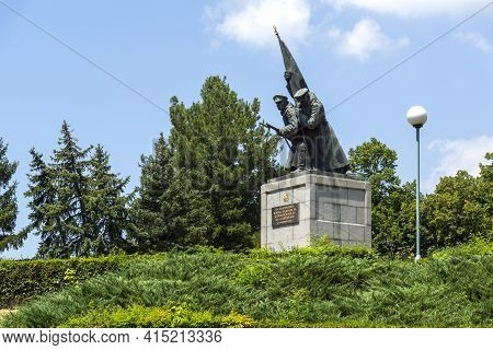 Kardzhali, Bulgaria - July 19, 2020: Monument To Fallen Soldiers At The Center Of Town Of Kardzhali,
