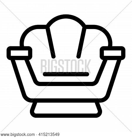 Lounge Icon. Outline Lounge Vector Icon For Web Design Isolated On White Background