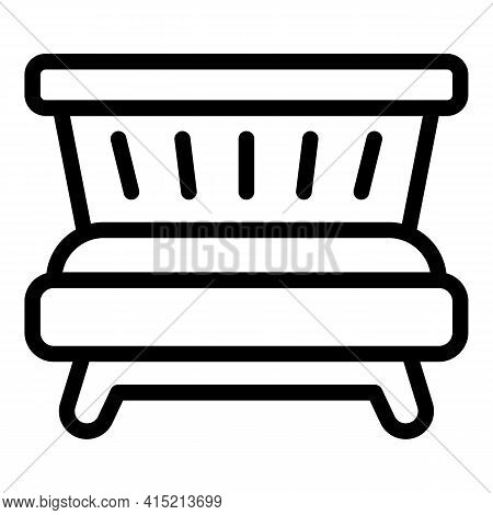Lounge Room Icon. Outline Lounge Room Vector Icon For Web Design Isolated On White Background