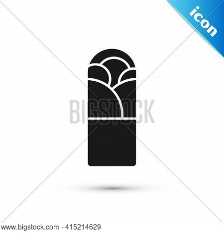 Grey Doner Kebab Icon Isolated On White Background. Shawarma Sign. Street Fast Food Menu. Vector