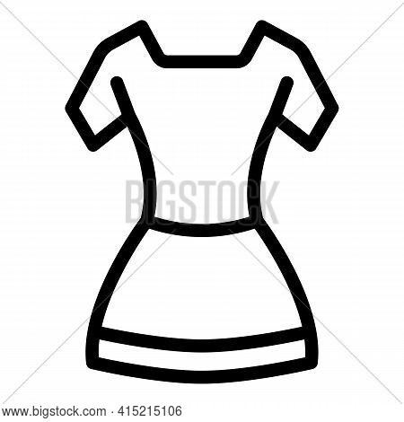 Ballet Costume Icon. Outline Ballet Costume Vector Icon For Web Design Isolated On White Background