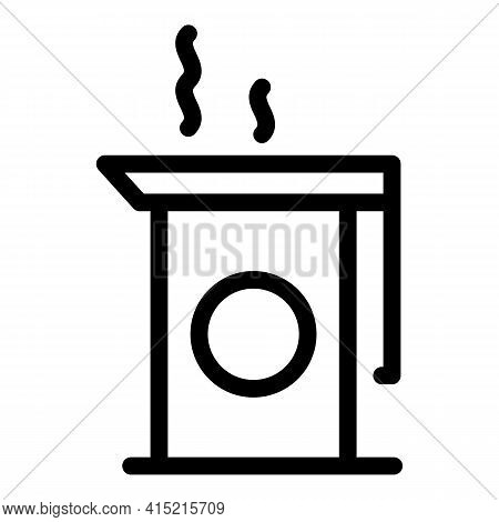 Hot Thermo Cup Icon. Outline Hot Thermo Cup Vector Icon For Web Design Isolated On White Background