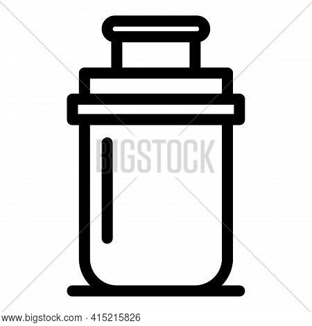 Thermo Flask Icon. Outline Thermo Flask Vector Icon For Web Design Isolated On White Background