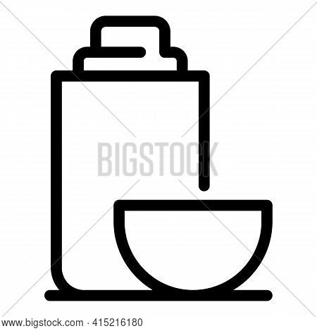 Vacuum Flask Icon. Outline Vacuum Flask Vector Icon For Web Design Isolated On White Background