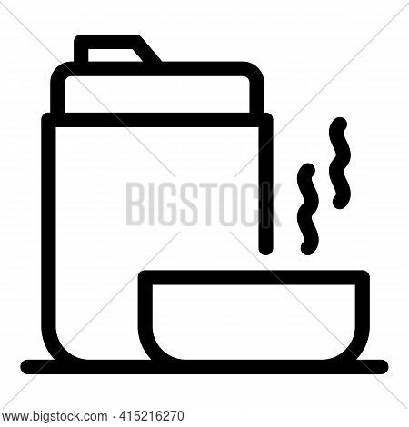 Tourist Thermo Flask Icon. Outline Tourist Thermo Flask Vector Icon For Web Design Isolated On White
