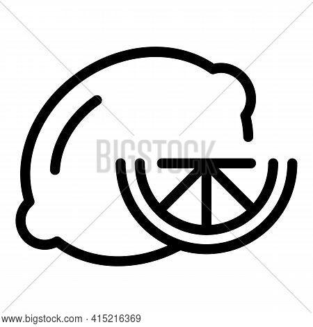 Lemon Slice Icon. Outline Lemon Slice Vector Icon For Web Design Isolated On White Background