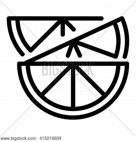 Citrus Lemon Icon. Outline Citrus Lemon Vector Icon For Web Design Isolated On White Background