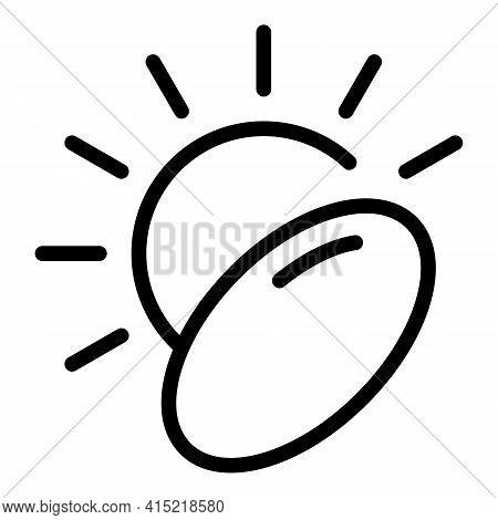 Sun Vitamin Icon. Outline Sun Vitamin Vector Icon For Web Design Isolated On White Background