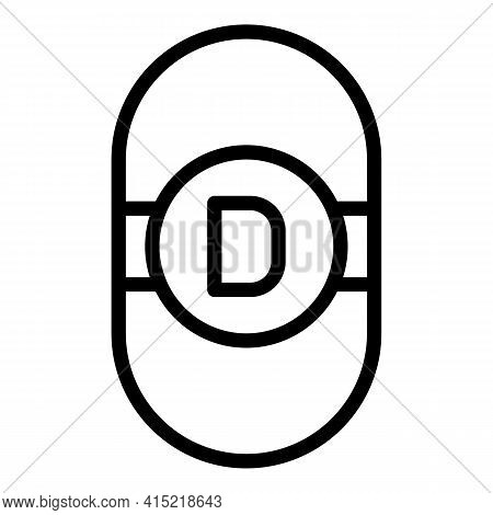 Healthcare Vitamin Icon. Outline Healthcare Vitamin Vector Icon For Web Design Isolated On White Bac