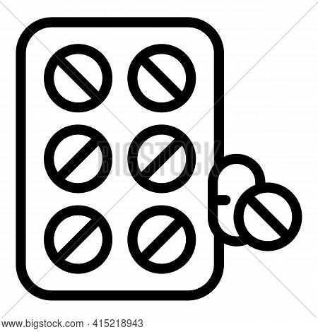 Immune Drugs Icon. Outline Immune Drugs Vector Icon For Web Design Isolated On White Background