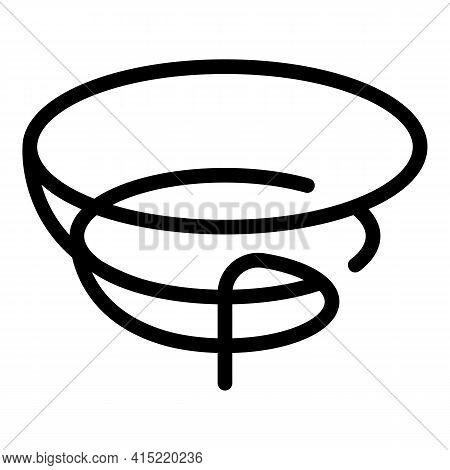 Rope Lasso Icon. Outline Rope Lasso Vector Icon For Web Design Isolated On White Background