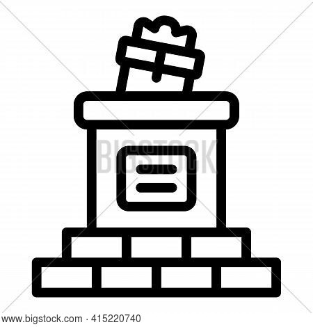 Chimney Icon. Outline Chimney Vector Icon For Web Design Isolated On White Background