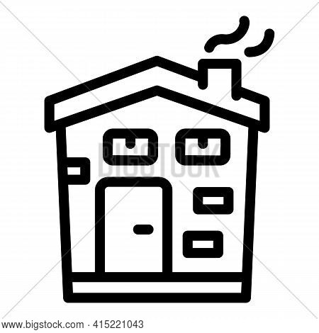 Building Chimney Icon. Outline Building Chimney Vector Icon For Web Design Isolated On White Backgro