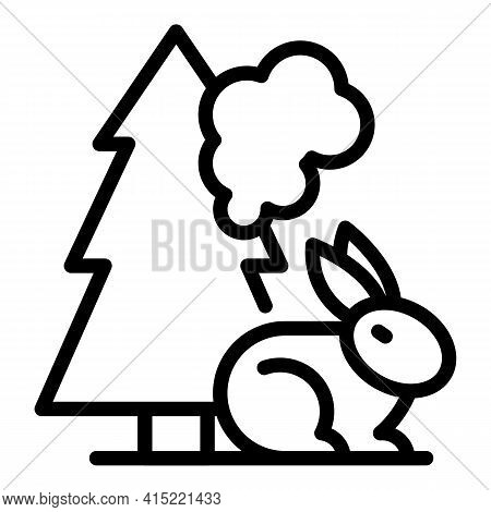 Wildfire Icon. Outline Wildfire Vector Icon For Web Design Isolated On White Background