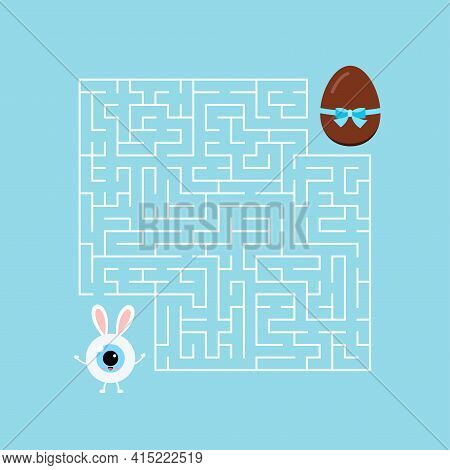 Easter Bunny Eyeball Kids Maze Game Labyrinth.