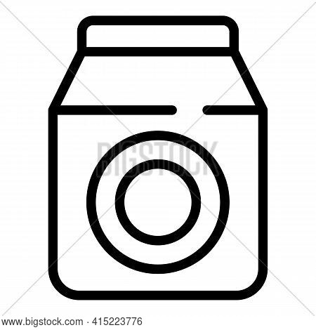 School Milk Pack Icon. Outline School Milk Pack Vector Icon For Web Design Isolated On White Backgro