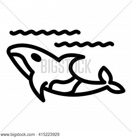 Wild Whale Icon. Outline Wild Whale Vector Icon For Web Design Isolated On White Background