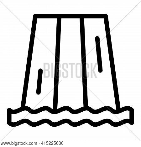 Resort Water Park Icon. Outline Resort Water Park Vector Icon For Web Design Isolated On White Backg