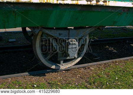 Dnepropetrovsk, Ukraine - 04.01.2021:armored Train In The Open-air Museum. An Armored Train From The
