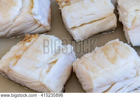 Roasted Cod Loin Typical Dish Of Portugal