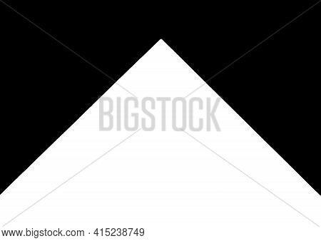 Black And White Abstract Corner Geometric Diagonal Pattern Background, Design Element, White Pyramid