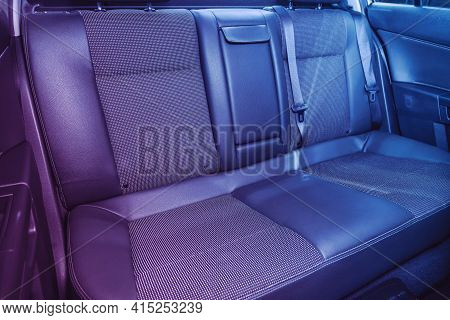 Novosibirsk, Russia - April 01 2021: Opel Astra, Leather Interior Design, Car Passenger And Driver S