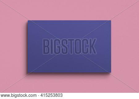 Blank customized purple business card