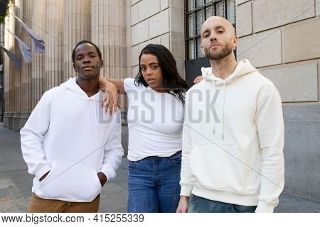 White simple apparel street style men and women's clothing outdoor shoot