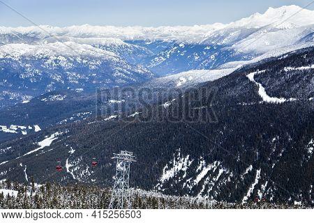 Peak To Peak Gondola On Whistler, Bc.