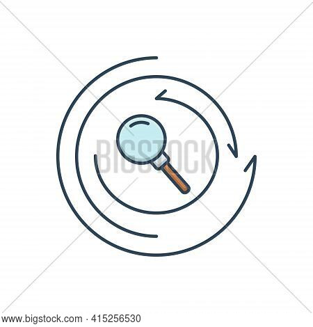Color Illustration Icon For Research Investigation Inquiry Finding