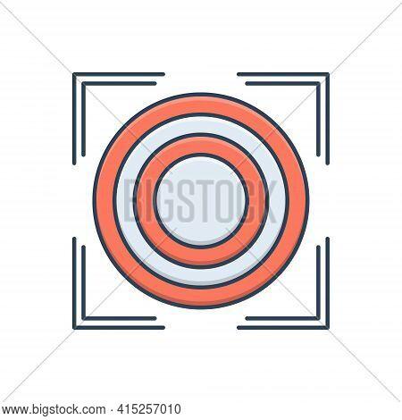 Color Illustration Icon For Precision Purity Accuracy Precision Chastity