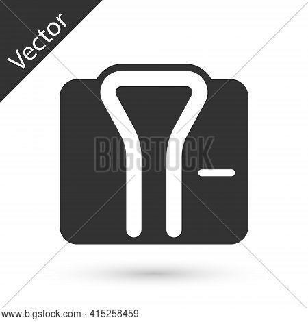 Grey Bathrobe Icon Isolated On White Background. Vector