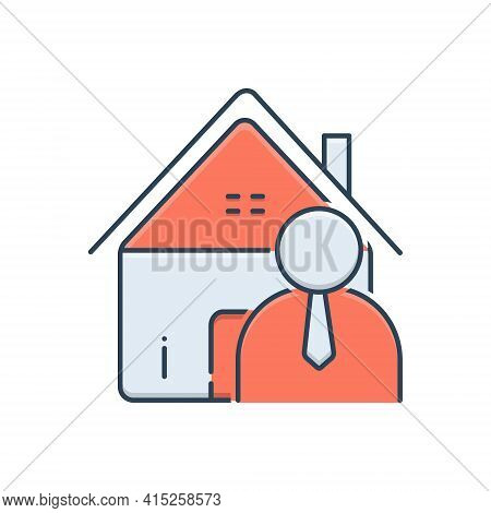 Color Illustration Icon For Real-estate-agent Real Estate Agent Guidance Salesman  Professional