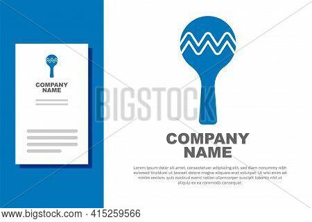 Blue Maracas Icon Isolated On White Background. Music Maracas Instrument Mexico. Logo Design Templat