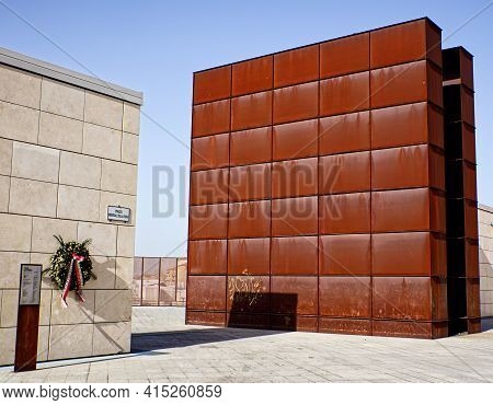 Bologna - Italy - February 20, 2021: Shoah Memorial Monument In Bologna. This Monument Represents Th