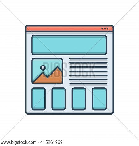 Color Illustration Icon For Wireframing-prototyping Wireframing Prototyping Design Usability