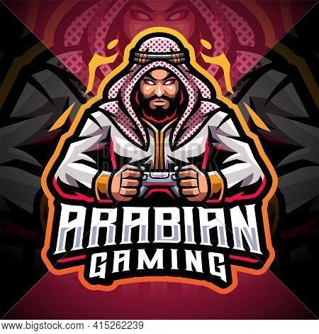 Arabian Gaming Esport Mascot Logo Design With Text